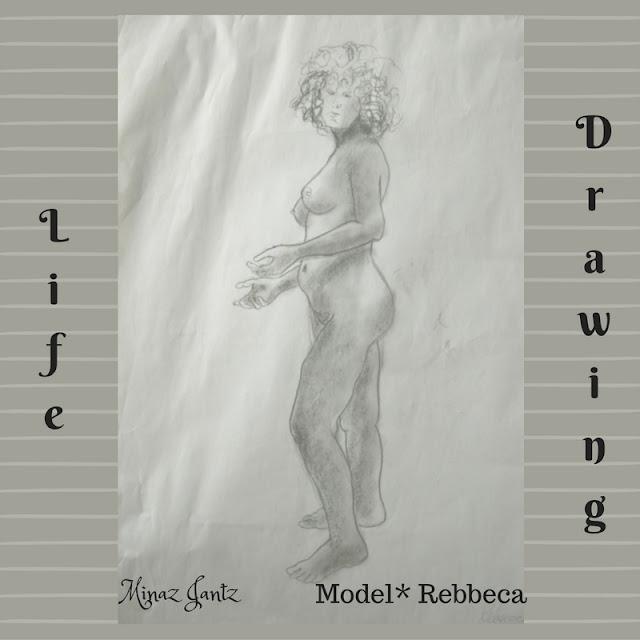 Nude Drawings by Minaz Jantz. Model Rebecca