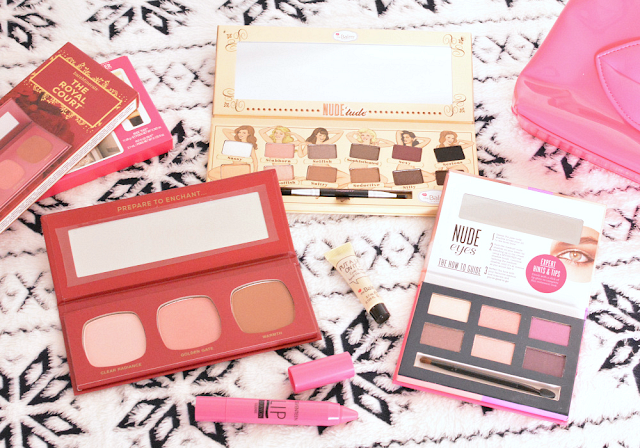 Bare Minerals the royal court, The Balm Nude'tude eyeshadow palette, 17 cosmetics clutch