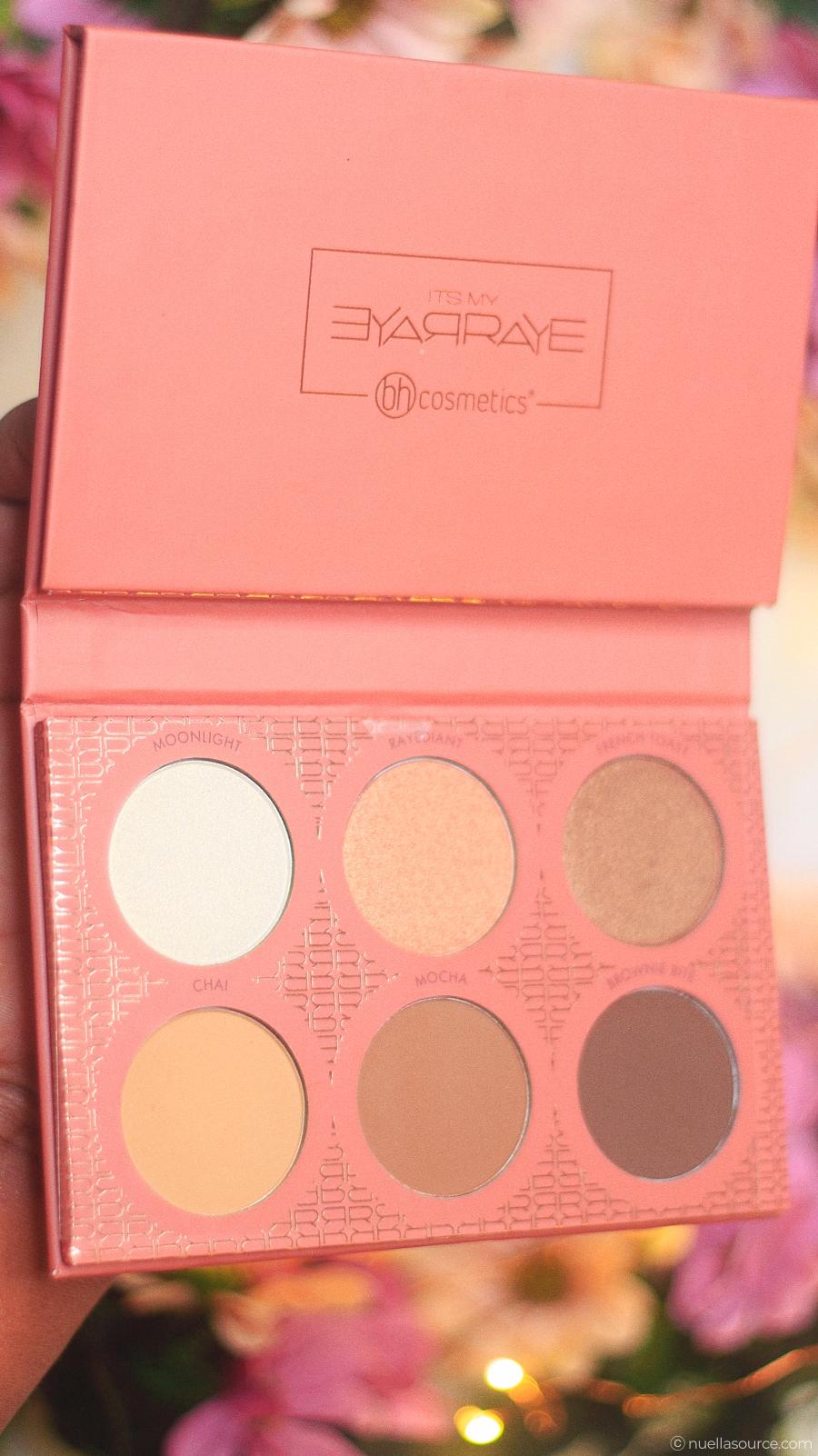 Palette BH Cosmetics Itsmyrayeraye highlighter contouring