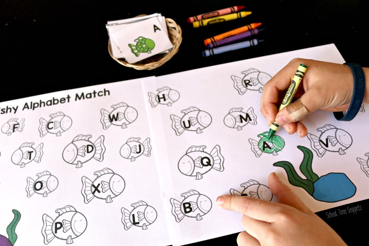 MATCH THE LETTERS AND COLOR WORKSHEET