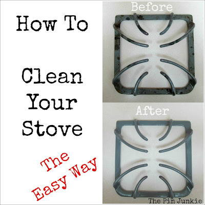 easy way to clean stove