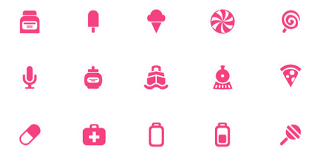200 free icons with 3 different sizes