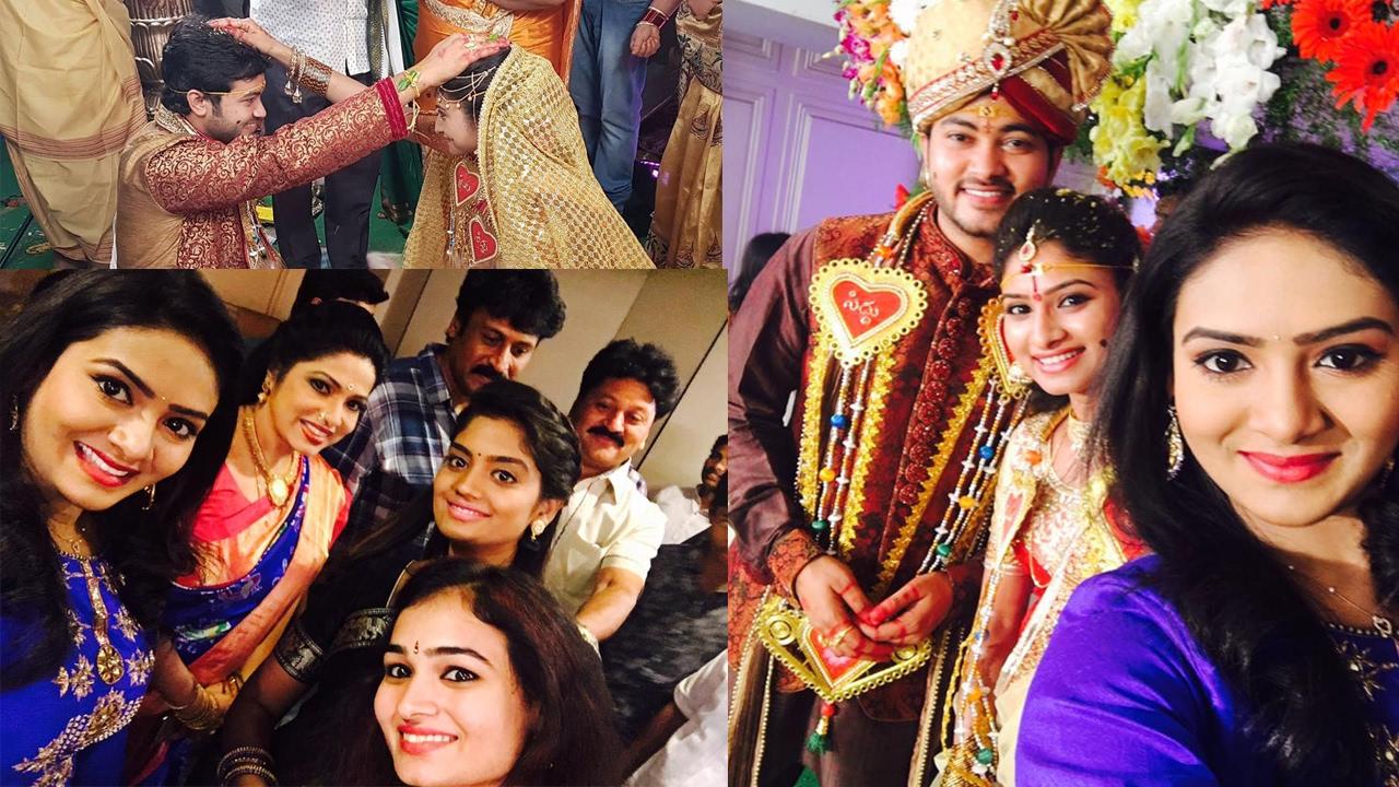 Telugu actor siddharth varma ties knot with actress vishnu priya siddharth vishnu click with friends and family also read actor ajay altavistaventures Images