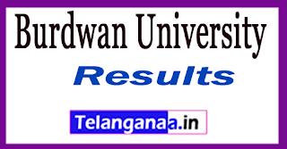 Burdwan University Result 2017