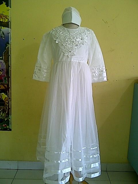 Model Gamis Pesta Anak Warna Putih