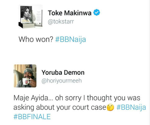 Troll comes for Toke Makinwa over Big Brother Naija question
