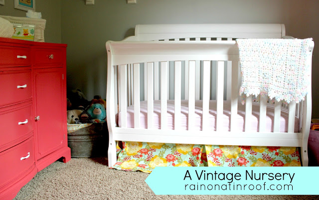 vintage+nursery+11 A Colorful Home Tour: Rain on a Tin Roof {Color My Home Summer Blog Series} 22