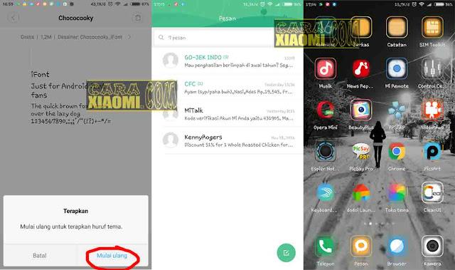 Cara Termudah Ganti Font di Semua Xiaomi MIUI 8