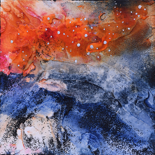 Space painting, stars, nebula