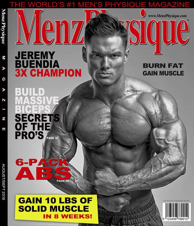 Jeremy Buendia, tricampeão do Mr. Olympia, é capa da Menz Physique