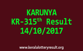 KARUNYA Lottery KR 315 Results 14-10-2017
