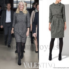 Crown Princess MetteMarit wore valentino Tweed dresses