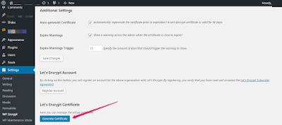 generate ssl certificate for wordpress