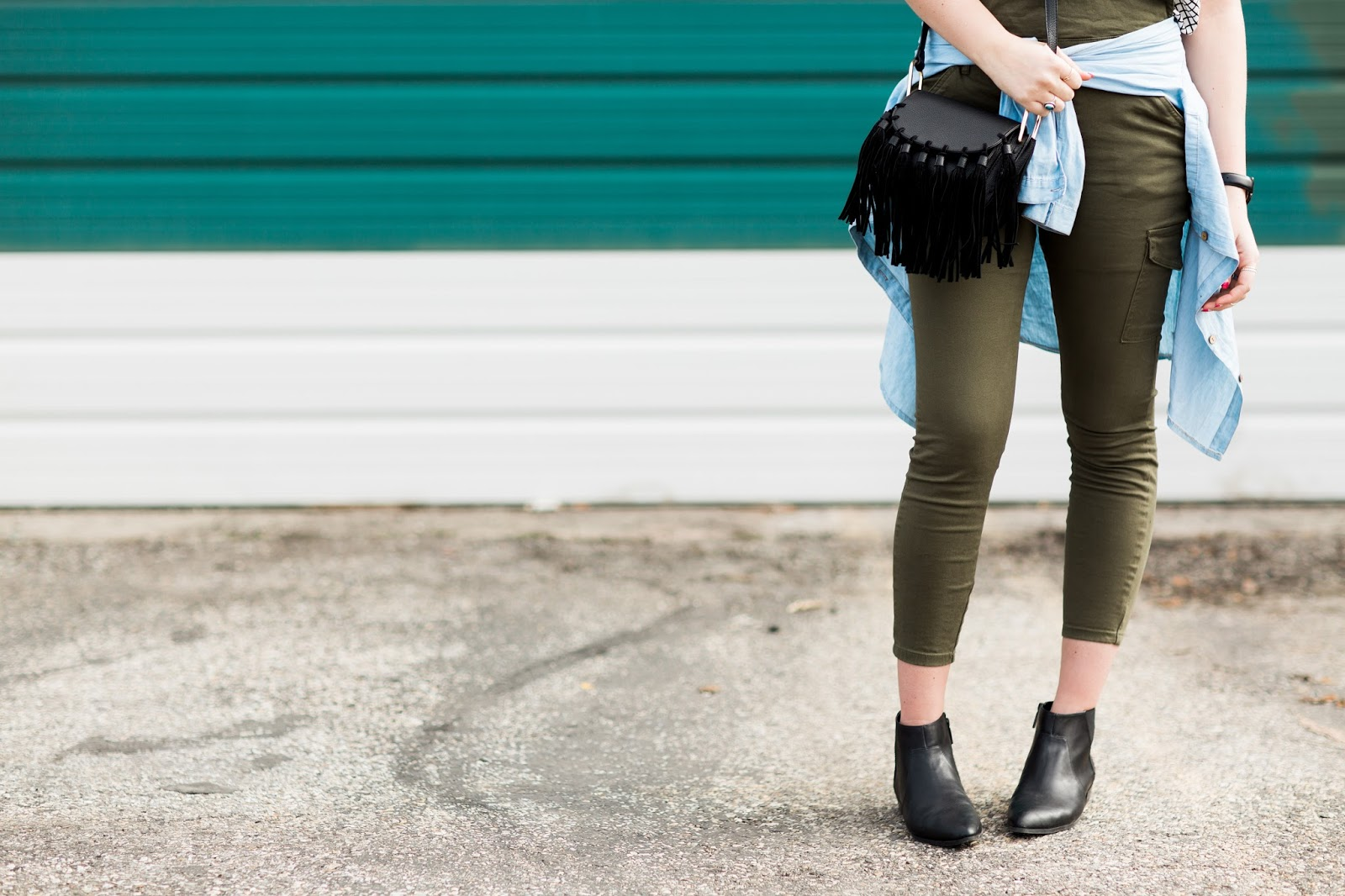Fringe Purse, Black  Booties, Spring Outfit