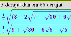 Nilai sin cos 33 dan 66 derajat secara eksak | Biology Page