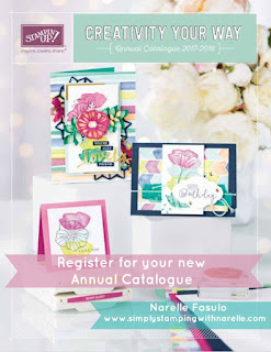 2017-2018 Annual Catalogue - Narelle Fasulo - Simply Stamping with Narelle - get your copy by registering here - http://eepurl.com/cMHib1