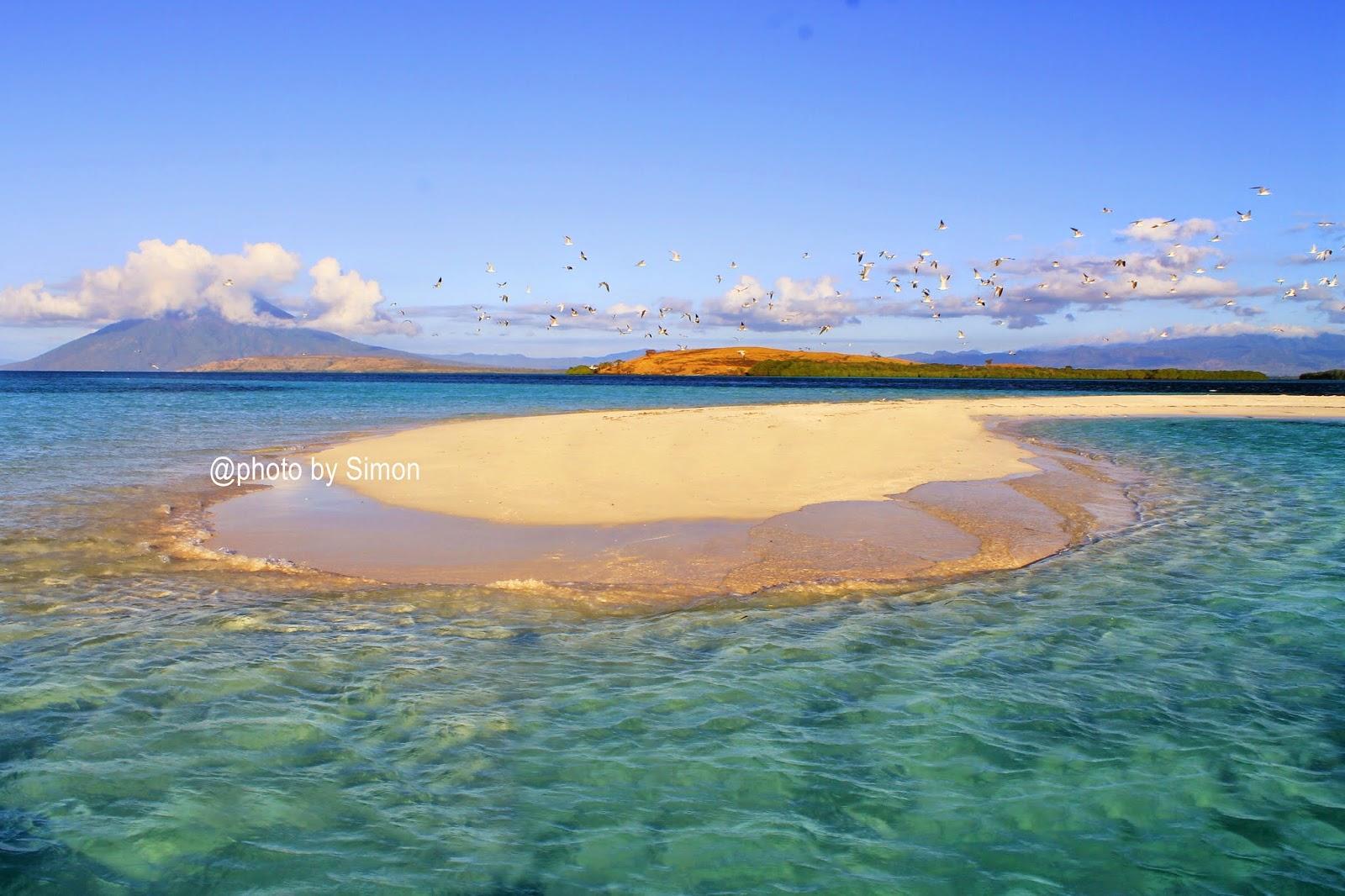 pasir timbul pantai sari ringgung lampung