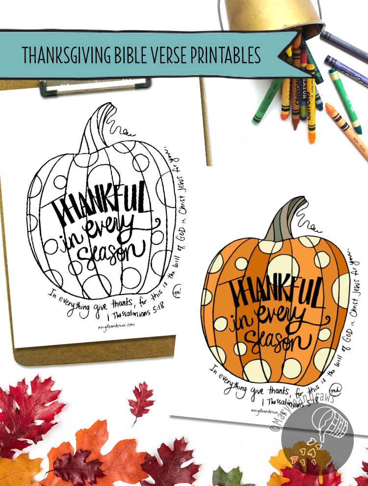 Thanksgiving Art Print Coloring Page Printables