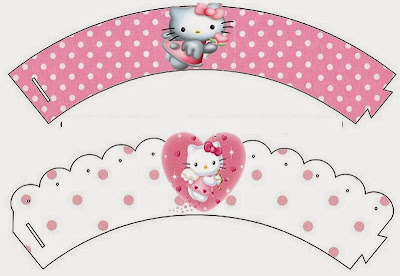 Hello Kitty Angel: Invitaciones, Imprimibles, Etiquetas para Candy Bar e Imágenes para Imprimir Gratis.