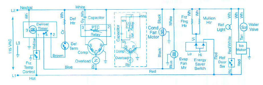 Diagram  Wiring Diagram Kelistrikan Kulkas 1 Pintu Full