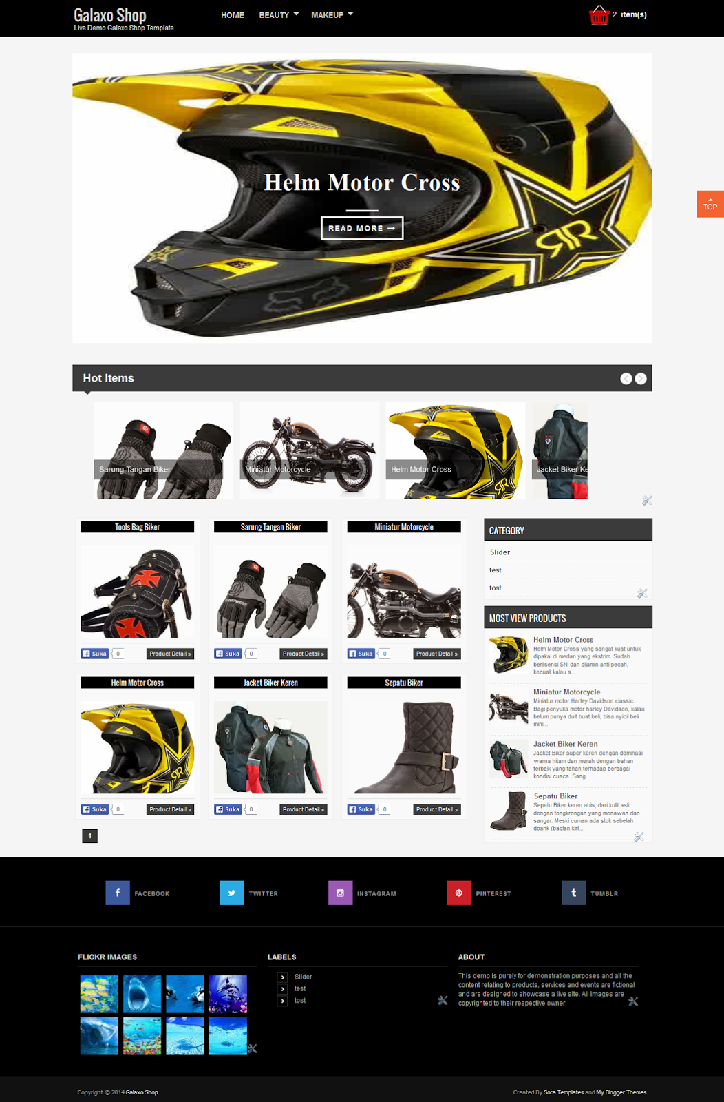 galaxo shop template