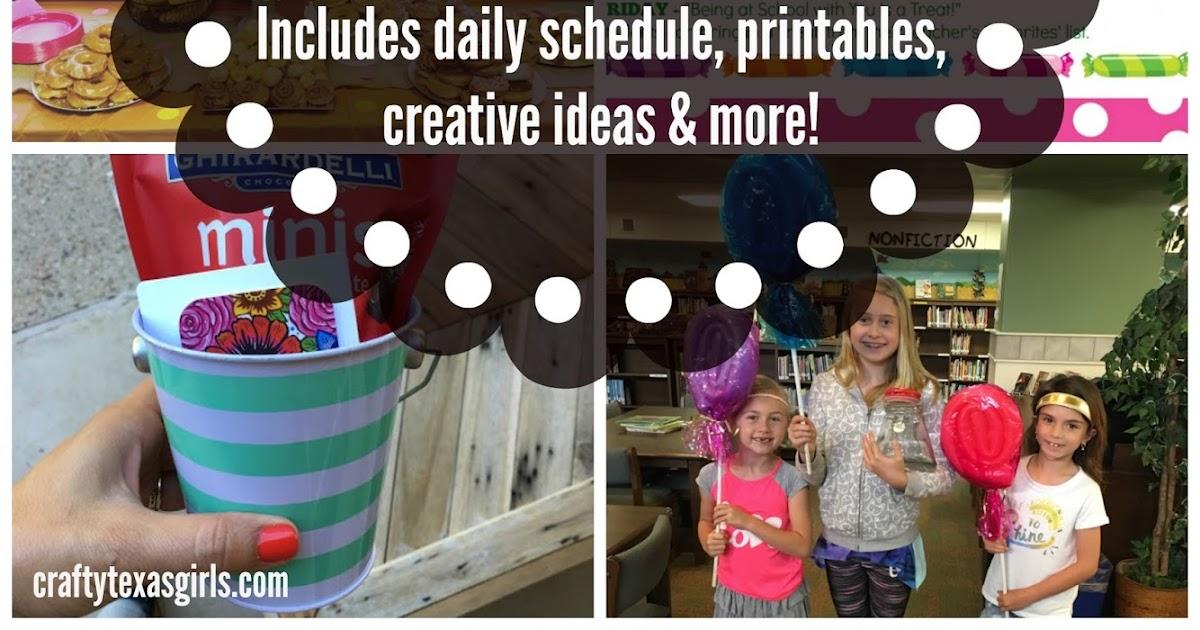 crafty texas girls  sweet candy themed teacher appreciation week