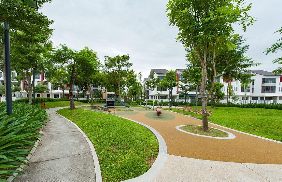 Không gian xanh trong dự án Gamuda Gardens.