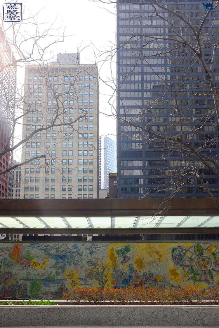 Le Chameau Bleu - Blog Voyage Chicago USA - Vacances à Chicago - Fresque de Chagall