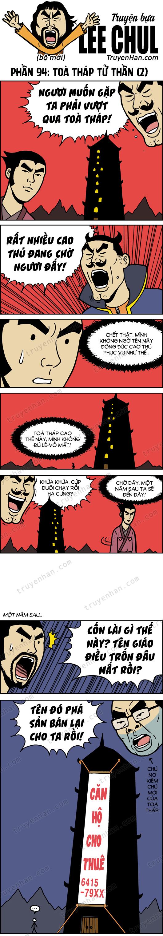 TRUYỆN BỰA LEE CHUL phần 94: Toà tháp tử thần (2)
