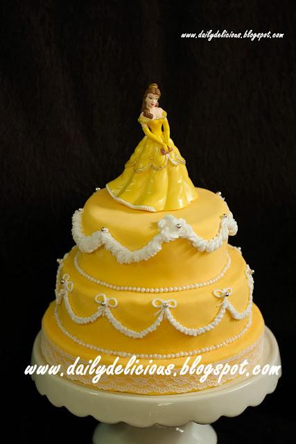 Marble Fondant Cake Fose Gold