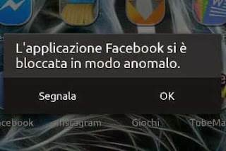 app non risponde o si ferma