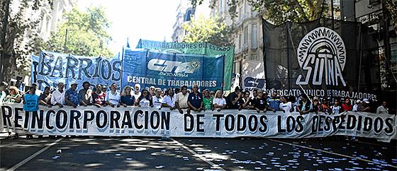 La CTA Autónoma marchó a Plaza de Mayo contra los despidos y el ajuste