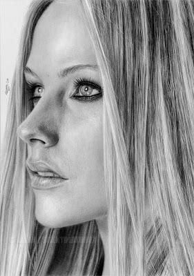 Retratos a lápiz Avril Lavigne