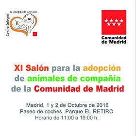 XI Salón para la adopción de animales de la Comunidad de Madrid, en el Retiro. 1 y 2 de octubre 2016