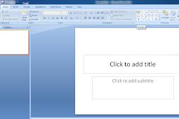 Bagian-Bagian Dari Microsoft PowerPoint Lengkap Dengan Penjelasanya