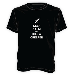 Koszulka Minecraft - Keep calm and kill a Creeper