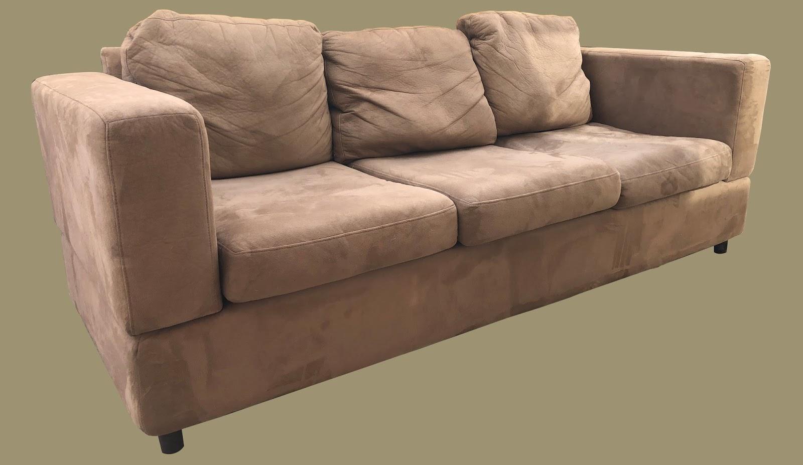 Tan Microfiber Sofa   $195