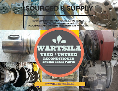 Wartsila, Marine, Main Engine, Auxilairy Engine, Shipspares, Spare Parts, Used, Reconditioned, new, unused, guaranteed, OEM, Original, sale, supplier, stockist, seller, Vasa, R22, R32, piston, cylinder, head, block, plungers, housing, bearing, pipe, crankshaft