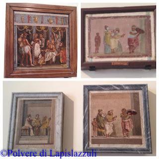 Scene musive in cui sono raffigurati rappresentanti della commedia romana ancica