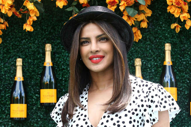 Priyanka Chopra and Freida Pinto at Veuve Clicquot Polo Classic 2017