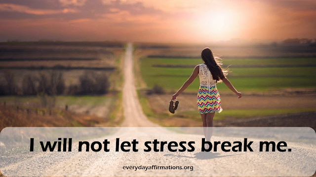 6 Affirmations to be Stress Free, Daily Affirmations, Affirmations for Women