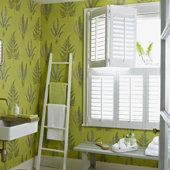 Green Home Bathroom: Eye For Design: Decorate With Fern Decor For Trendy Interiors