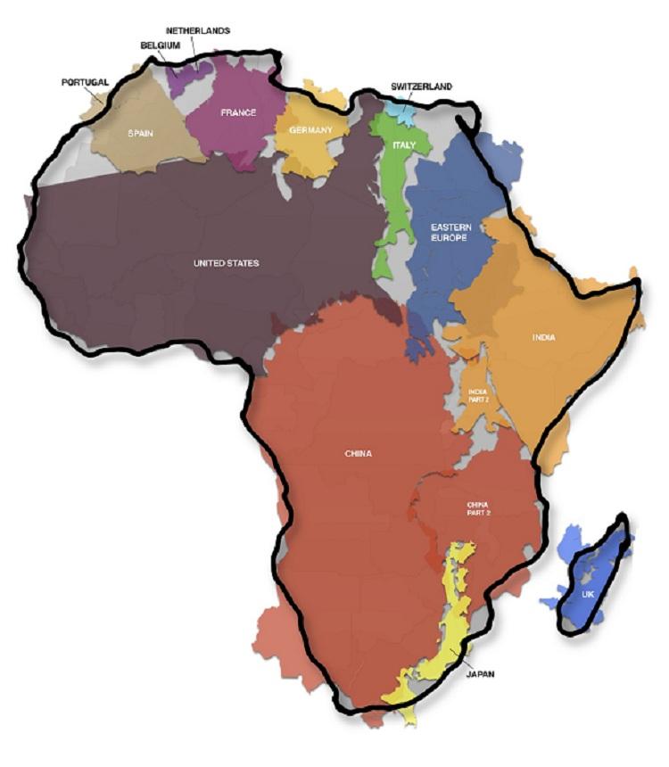 karta afrika ekvatorn Oskar blir lite smartare: Afrikas verkliga storlek karta afrika ekvatorn