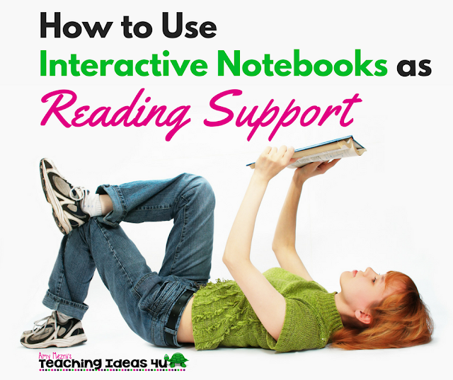 Learn how to use interactive notebooks as reading support for all students in any subject. Post discusses the benefits of using INBs and how to use them for assessments.