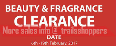 Beauty & Fragrance Clearance Sale 2017