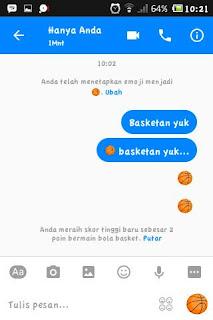 Kirimkan emoji basket tersebut ke teman chat kamu
