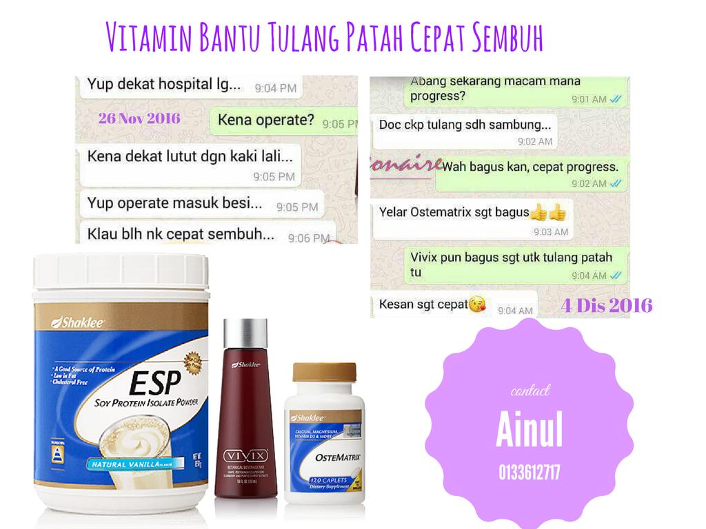Vitamin bantu Tulang Patah Cepat Sembuh