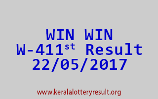 WIN WIN Lottery W 411 Results 22-5-2017