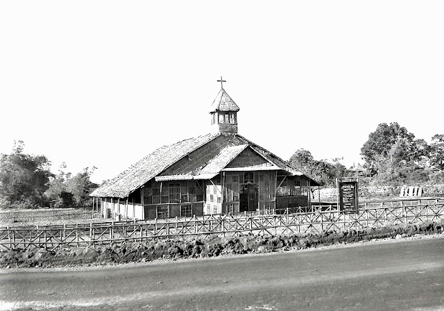 Chapel at the 593rd E.S.T. Battalion, Batangas, Batangas Province.  Taken 10 November 1945.