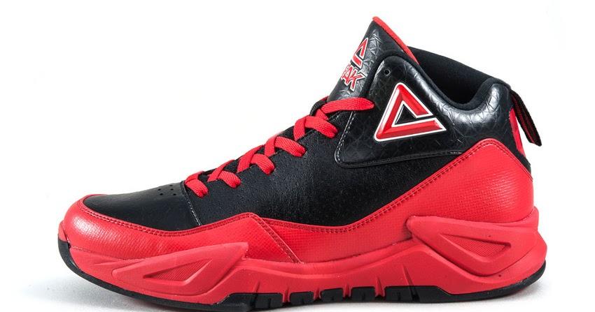 PEAK Sepatu Basket Outdoor Ares Reborn II E51311A - Hitam Merah - Man Basket  Shoes b1ec6b90ac